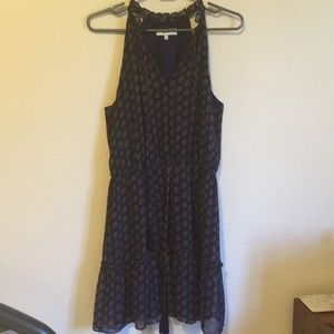 Likely Navy dress with pattern